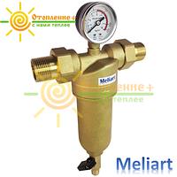 Фильтр для горячей воды промывной Meliart 3/4 (с манометром)