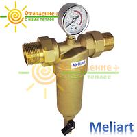 Фильтр для горячей воды промывной Meliart 1 (с манометром)