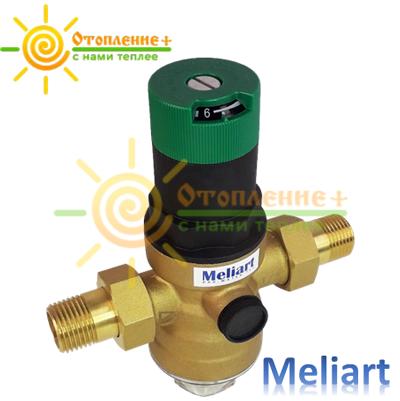 Редуктор давления для воды Meliart 1/2 мембранный
