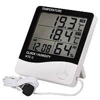 Измеритель температуры и влажности HTC-2 с часами
