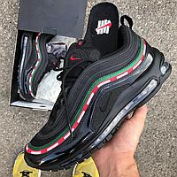 Мужские кроссовки Nike Air Max 97 x Undefeated OG Black Рефлективные (Топ реплика ААА+)
