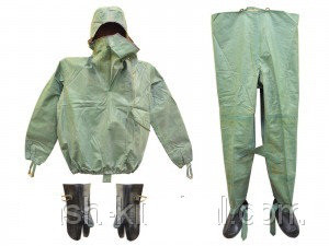 Рыбацкий костюм ОЗК ткань БЦК 3 р, армейский костюм Л1, улучшенный, оригинал, водонепроницаемый, размер 45-46