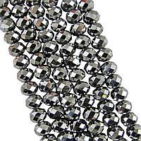 Бусины Хрустальные Серебряные зеркальные 10 мм 56 шт/нить