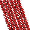 Бусины под Хрусталь Красные матовые рондель 4 мм 150 шт/нить