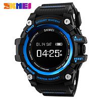 Фитнес-смарт (Bluetooth) часы с пульсометром от SKMEI 1188 Li-Po 160 mA * H (blue) NEW 2018