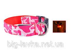 Светодиодный ошейник для животных (собака, кошка)  Красный
