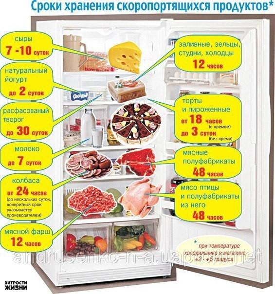 Условия хранения скоропортящихся продуктов