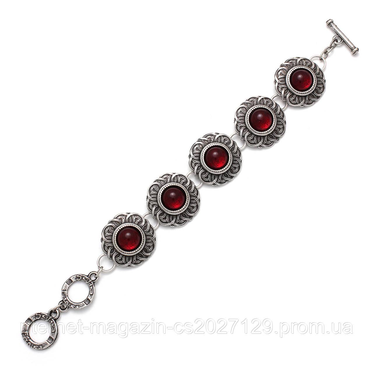 Браслет Безанта серебро (рубин)
