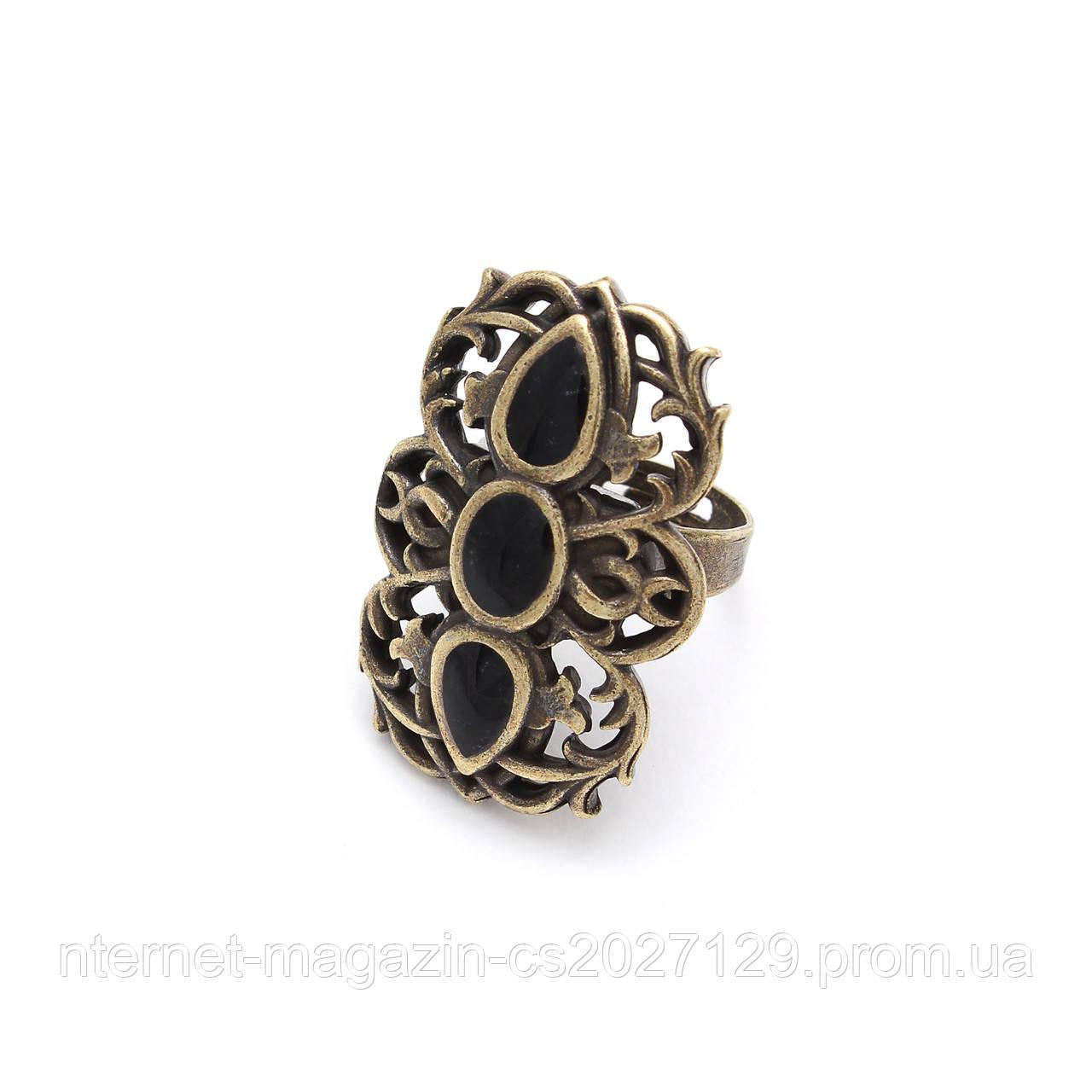 Кольцо Вертоград бронза (эмаль агат)