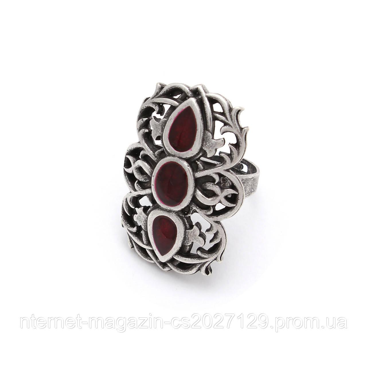 Кольцо Вертоград серебро (эмаль рубин)