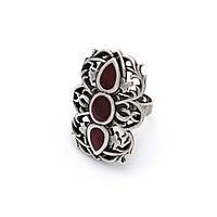 Кольцо Вертоград серебро (эмаль рубин), фото 1