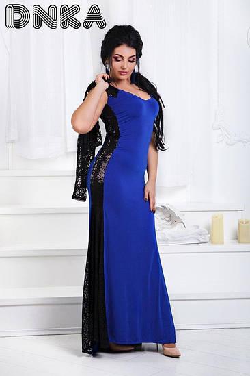 Женское вечернее платье в пол с болеро