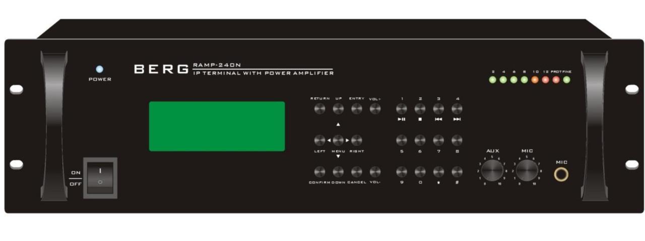 Пристрій передачи звука по мережі з пісилилювачем потужності 120 Вт (240Вт, 350Вт), Berg, RAMP-120N