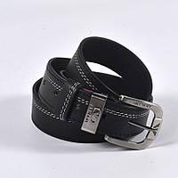 Мужской кожаный ремень ARMANI (черный)