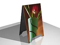 """Рекламный штендер """"ШАЛАШ"""" (Нанесение пленки: ORACAL 641 серии, 2 слоя;  Основание: Оцинкованный металл; Ламинация: 1 сторона;)"""
