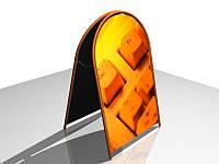 """Рекламный штендер """"ШАЛАШ"""" арочный, 600х900мм (Нанесение пленки: Аппликация пленками ORACAL, 2 слоя ;  Основание: Композитный материал; Ламинация: 1, фото 1"""