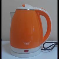 Чайник электрический нержавеющий с пластиковым покрытием (1,8 л; 2 кВт) Defiant DEK1820-11_оранж