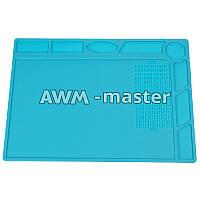 Коврик на стол силиконовый для разборки телефона (blue mat)