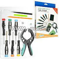Набор инструментов SW-9102 для разборки Apple (6 отвёрток,2 лопатки,присоска ножницы,пинцет,2лопатки