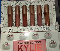 Набор стойких матовых жидких помад  Kylie Limited Edition 6 in 1 Блески для Губ 6 штук