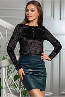 Женская короткая юбка из  экокожи Le2018