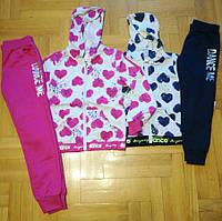 Трикотажный костюм 2 в 1 для девочек оптом, Graсe, 116/122-140/146 см,  № G80663