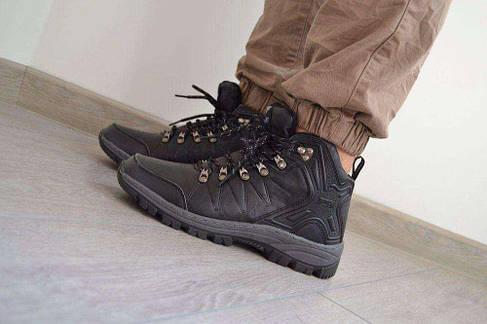43р, 44р Мужские кроссовки  зимние  ботинки черные, фото 2