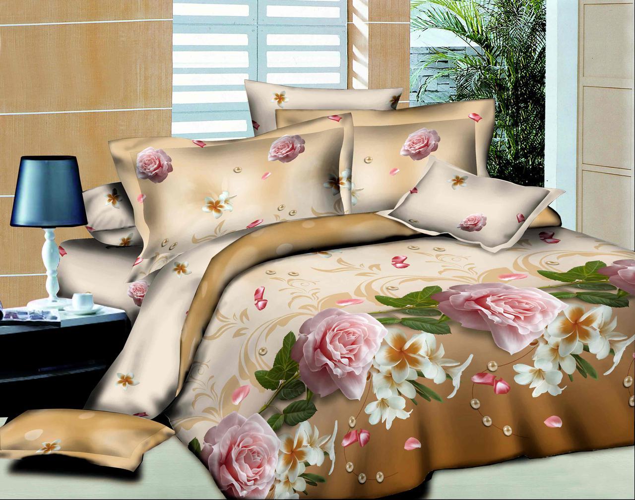 Семейный набор хлопкового постельного белья из Ранфорса №161 Черешенка™