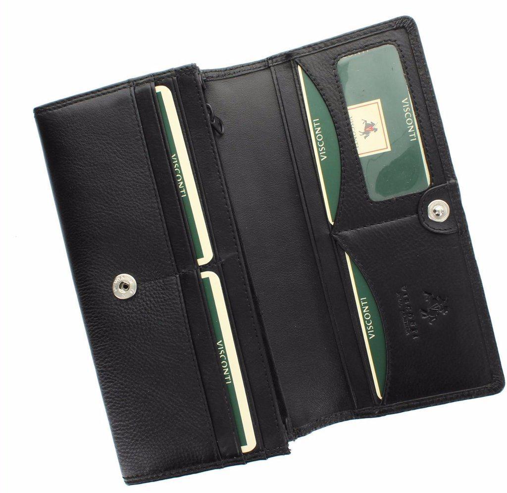 1d839a83801f женский кожаный кошелек Visconti Ht35 Black продажа цена в херсоне