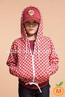 Кофта теплая с капюшоном для девочки