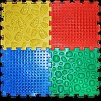 Массажный коврик Микс Пазлы (4 элемента) Ортек