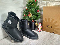 Черные UGG Bailey Button (Swarovski) Mini - 1