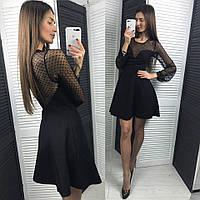 Женское модное платье с сеткой (2 цвета), фото 1