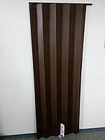 Дверь гармошка дуб рустик 820х2030х0,6 мм раздвижная межкомнатная пластиковая глухая
