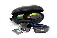 Мужские солнцезащитные велоочки очки, спортивные поляризационные очки со сменным линзами