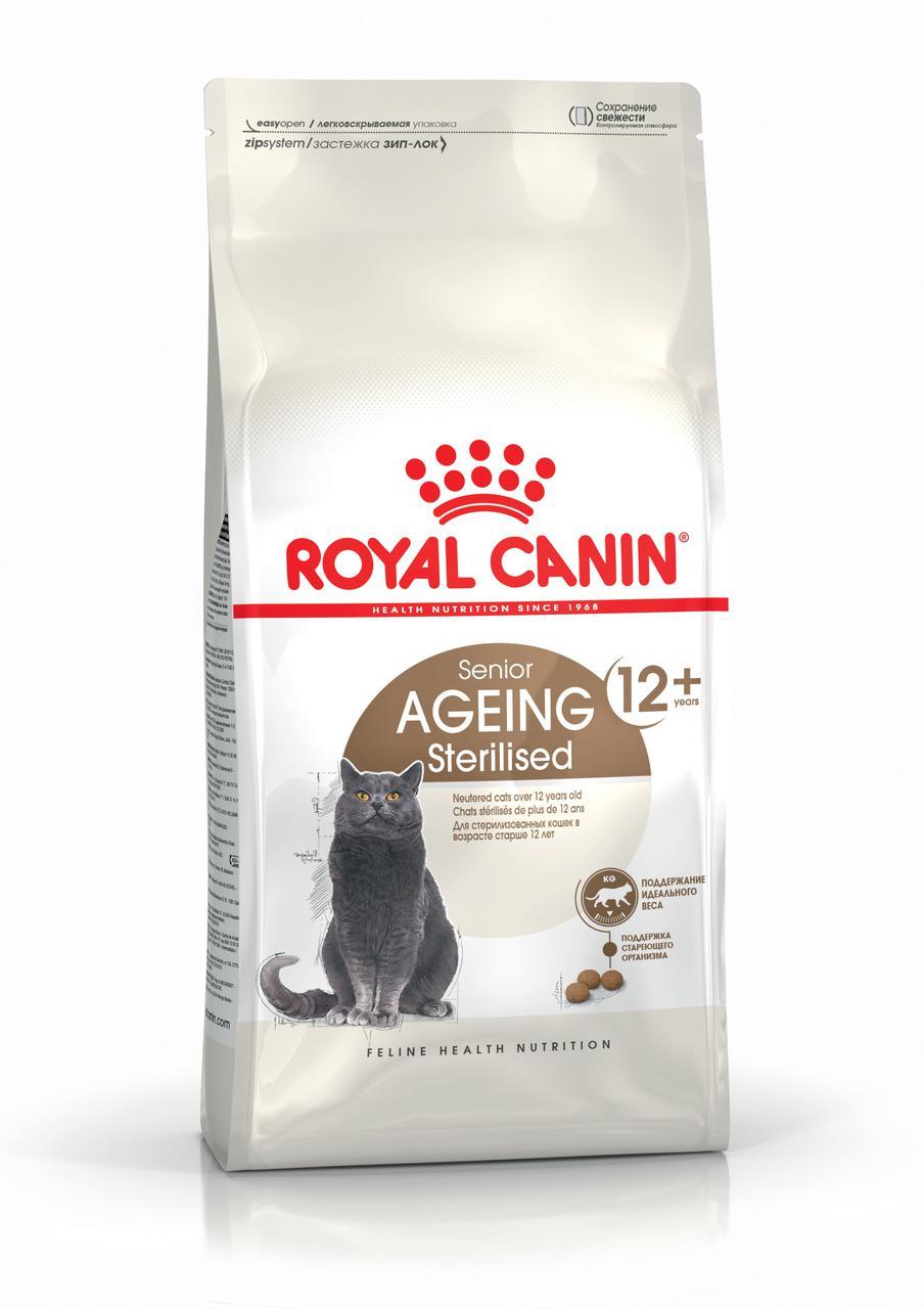 Royal Canin Ageing Sterilised 12+, 2кг - корм для стерилизованных кошек старше 12 лет