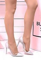 Туфли напыление крошка+силикон  Каблук 10 см