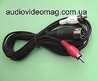 Кабель 5 pin DIN - 2 RCA, длина 1.2 метра
