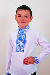 """Вышиванка для мальчика """"Майкл"""" (синяя вышивка)"""