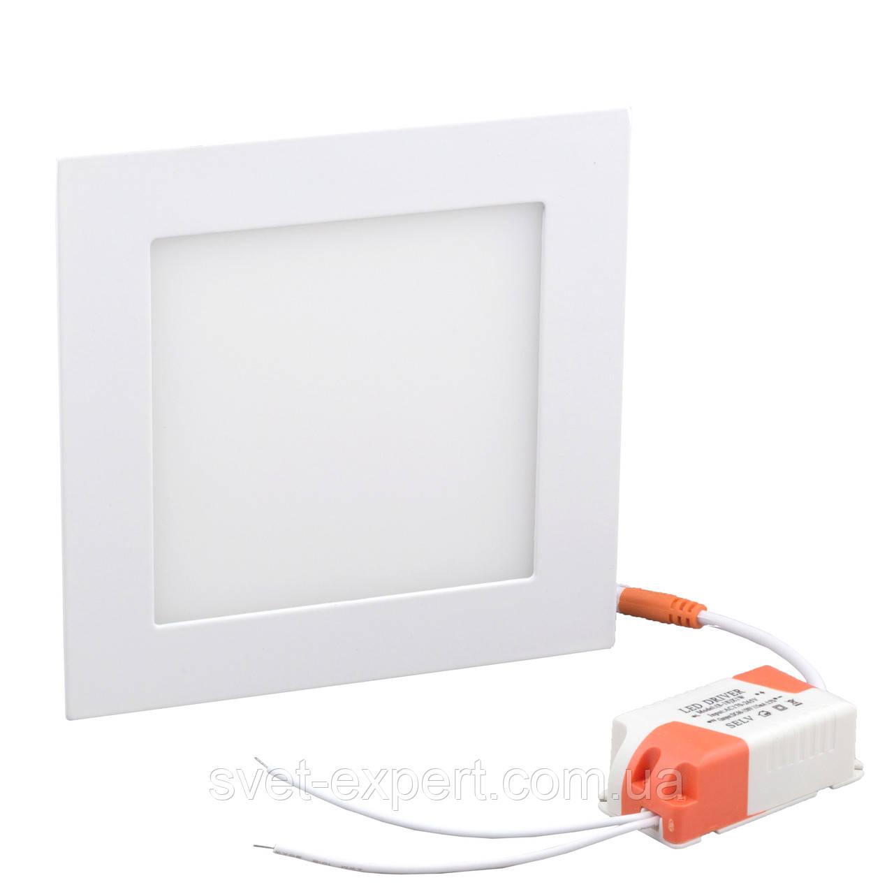 Світильник точковий Евросвет LED-S-170-12 12W 6400К вбудований