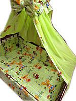 Акция! Набор в детскую кроватку! Зайчики салатовый 8 эл.