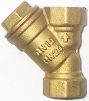 """Фильтры 1/2""""В -1/2""""В (Укр) (0,140кг, резьба усиленная) грубой очистки жидкости и газа от мех. частиц"""