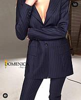 3eab725a1b77 Женский костюм с длинным пиджаком с отстегивающимися рукавами и ...