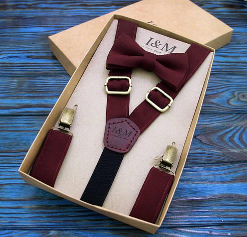 Набор I&M Craft галстук-бабочка и подтяжки для брюк (030204), фото 2