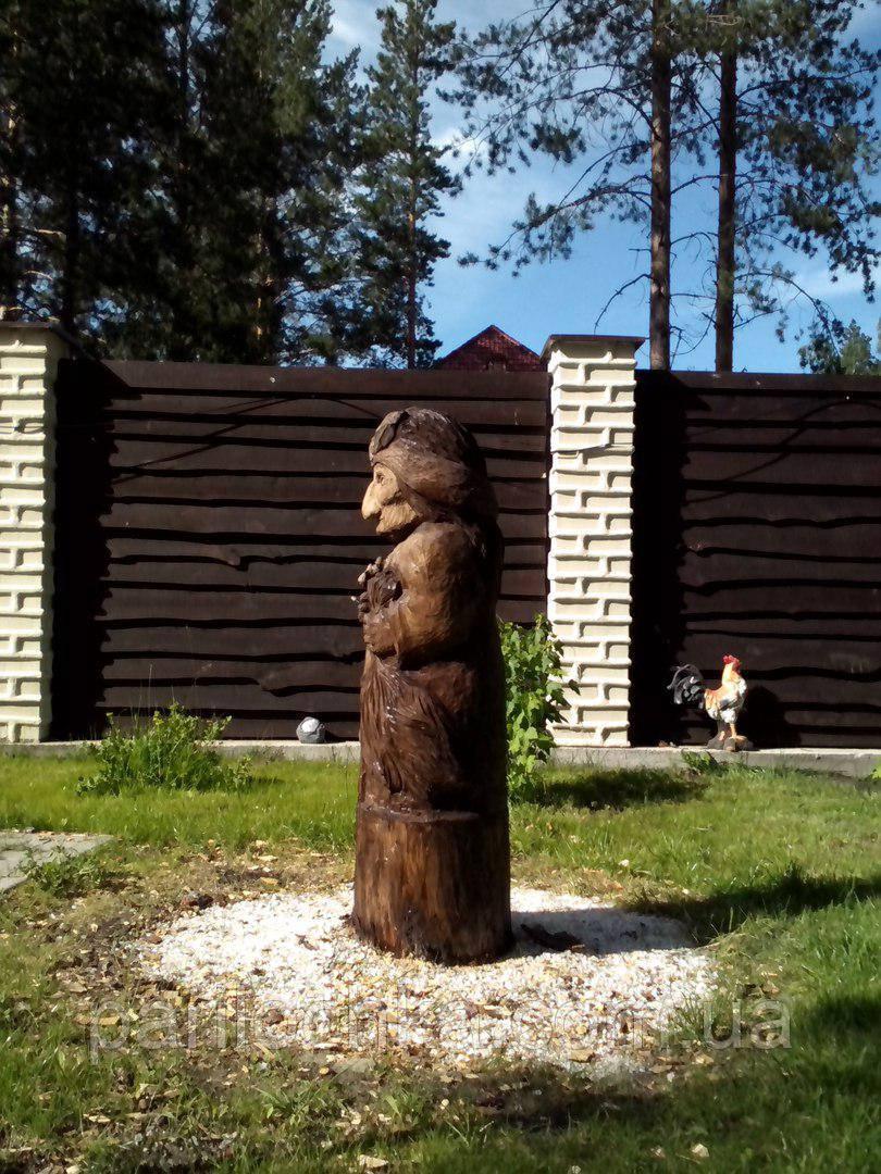 """Деревянная скульптура """"Баба Яга"""""""