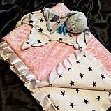 Плед для новонародженого на виписку. Ковдра в коляску, фото 5
