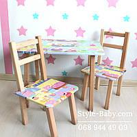 Детский стол и стульчики с Пеппой