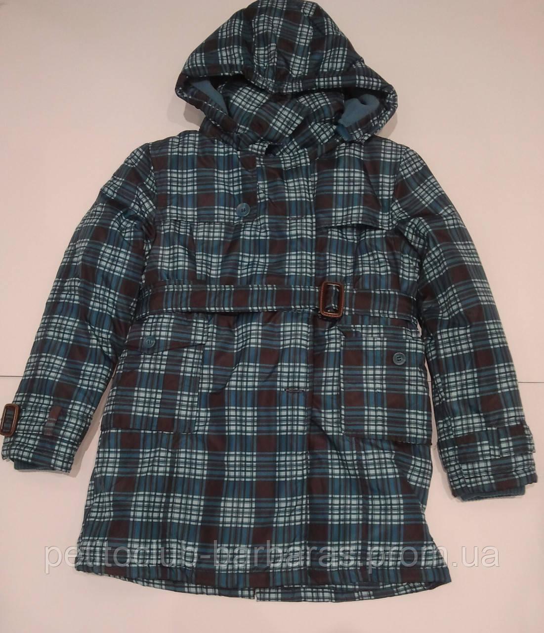Куртка  для мальчика удлиненная в клетку (QuadriFoglio, Польша)