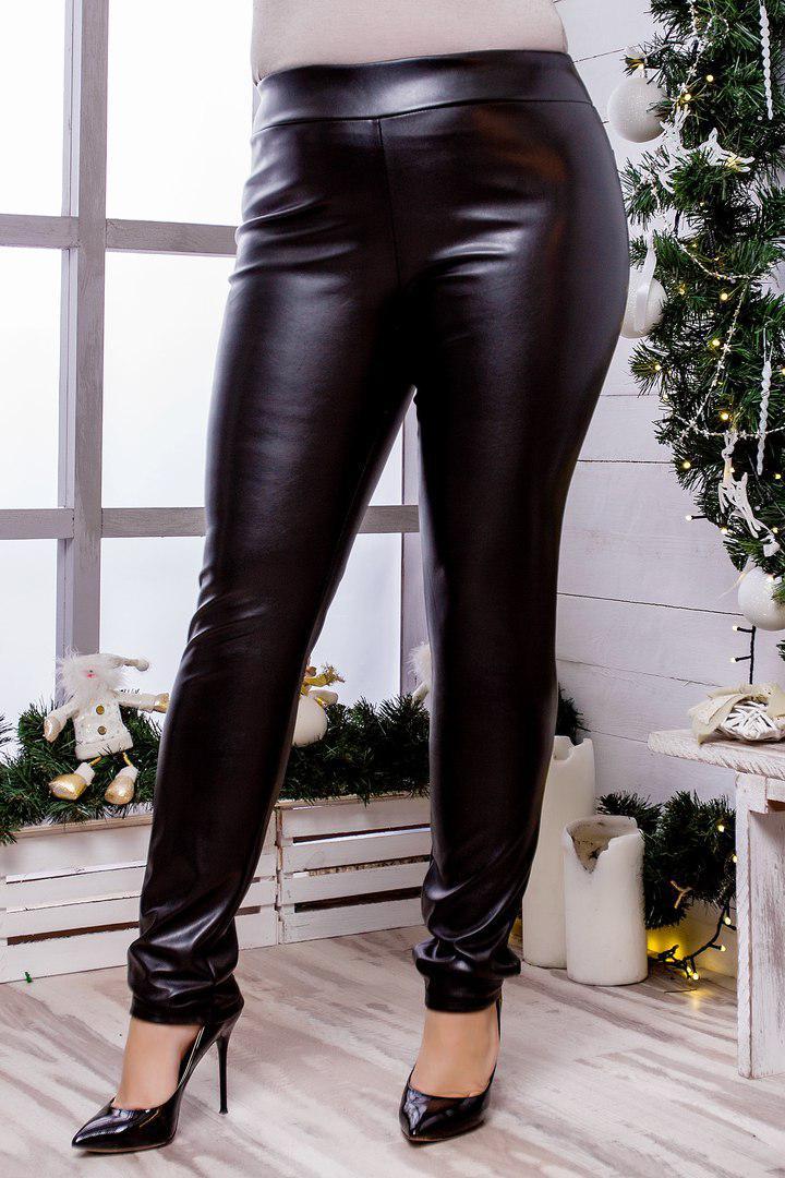 dd7cf3318377 Женские кожаные брюки-лосины Размеры 50-52, 54-56, 58-60, цена 555 ...