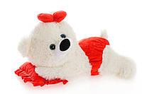 Алина Плюшевая мишка Малышка 45 см белый с красным